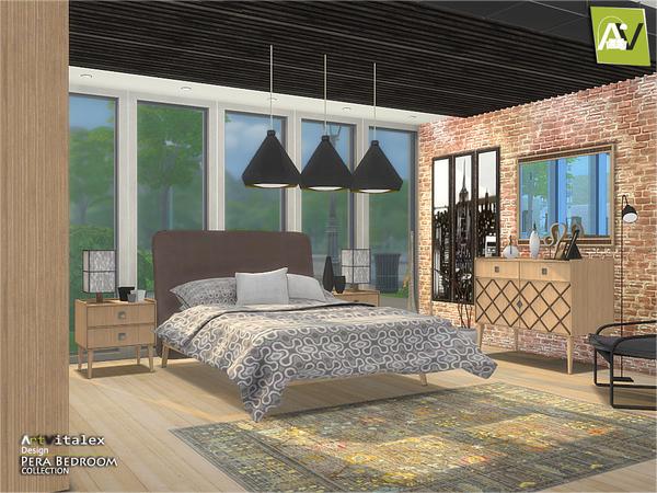 Pera Bedroom by ArtVitalex at TSR image 68 Sims 4 Updates