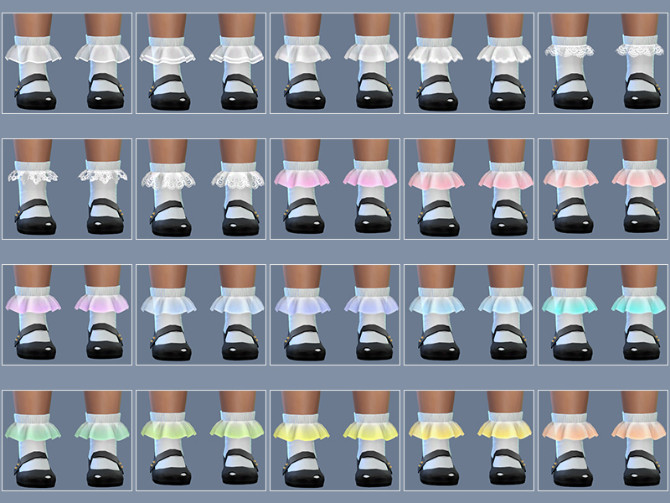 Sims 4 Toddler Frilly Socks 2.0 at Giulietta