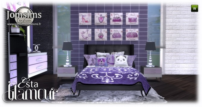 Esta glamorous bedroom at Jomsims Creations image 687 670x355 Sims 4 Updates