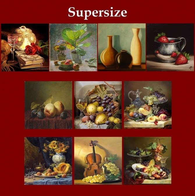 New Art Collection for easel with Stilllife paintings by Havem at Mod The Sims image 6915 670x673 Sims 4 Updates