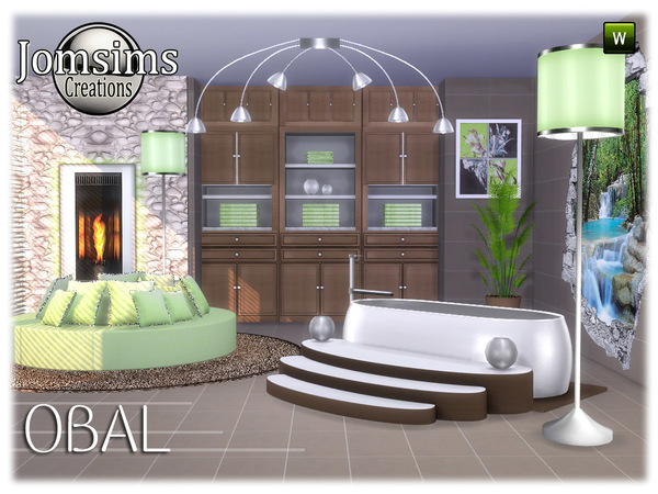 Obal bathroom part 2 by jomsims at TSR image 6917 Sims 4 Updates