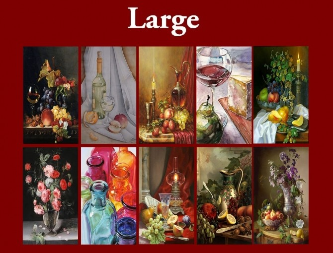 New Art Collection for easel with Stilllife paintings by Havem at Mod The Sims image 7015 670x510 Sims 4 Updates
