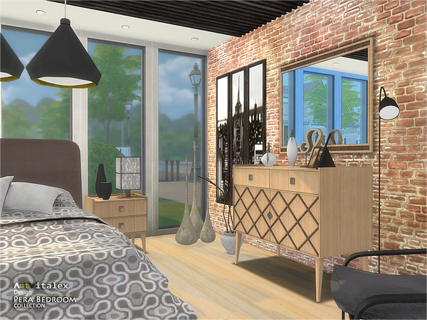 Pera Bedroom by ArtVitalex at TSR image 71 Sims 4 Updates