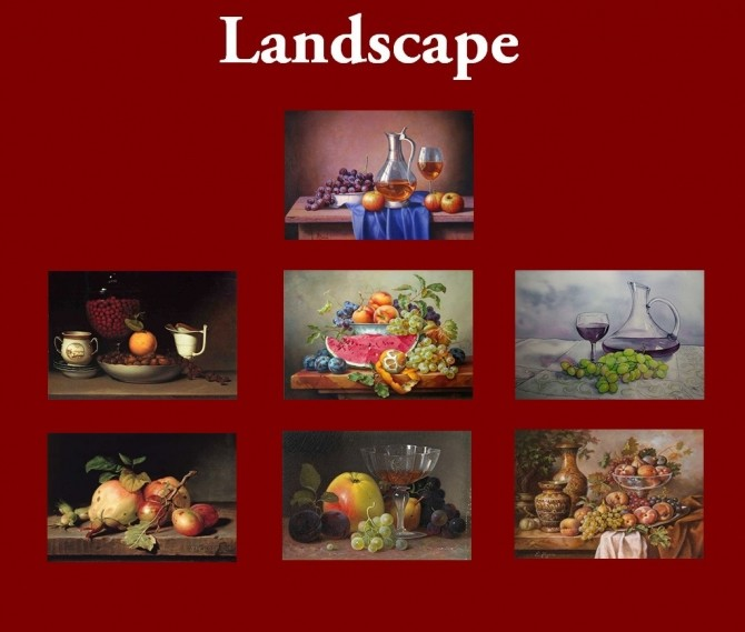New Art Collection for easel with Stilllife paintings by Havem at Mod The Sims image 7119 670x569 Sims 4 Updates