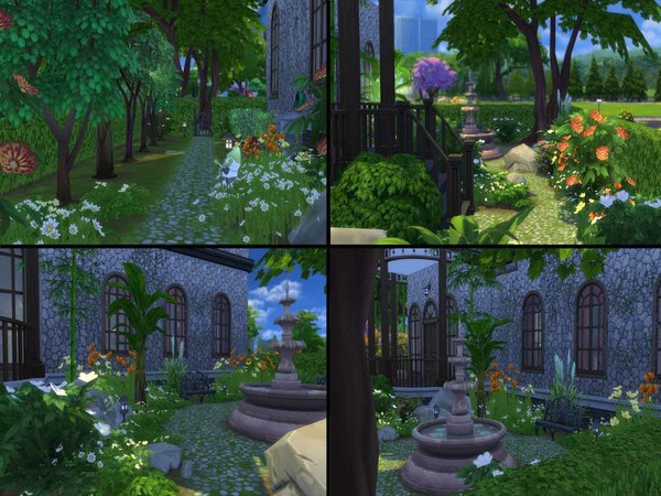 Sims 4 American Gothic Revised home by staralien at TSR