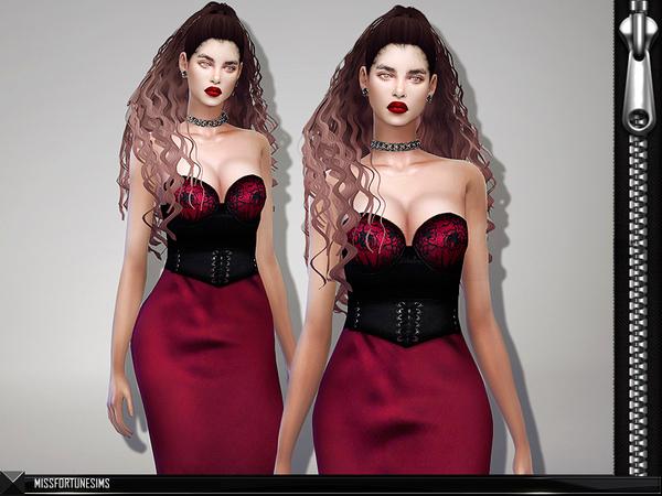 MFS Miranda Dress by MissFortune at TSR image 72 Sims 4 Updates