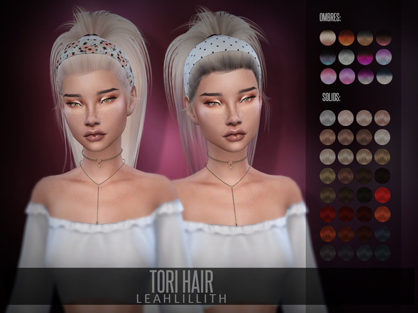 Tori Hair by Leah Lillith at TSR image 7213 Sims 4 Updates