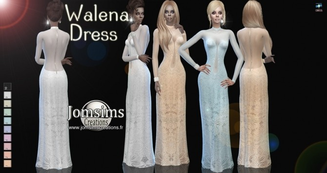 Walena dress at Jomsims Creations image 722 670x355 Sims 4 Updates