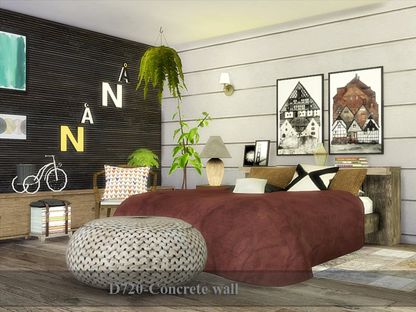 Concrete wall by Danuta720 at TSR image 729 Sims 4 Updates