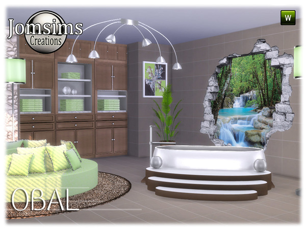 Obal bathroom part 2 by jomsims at TSR image 7317 Sims 4 Updates