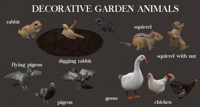 Sims 4 Decor Garden Animals (P) at Leo Sims