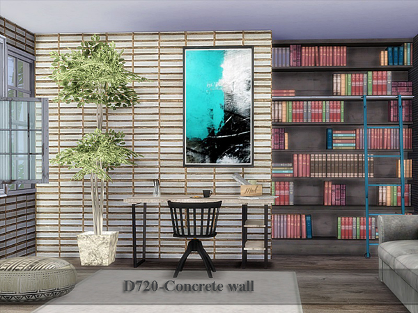 Concrete wall by Danuta720 at TSR image 738 Sims 4 Updates