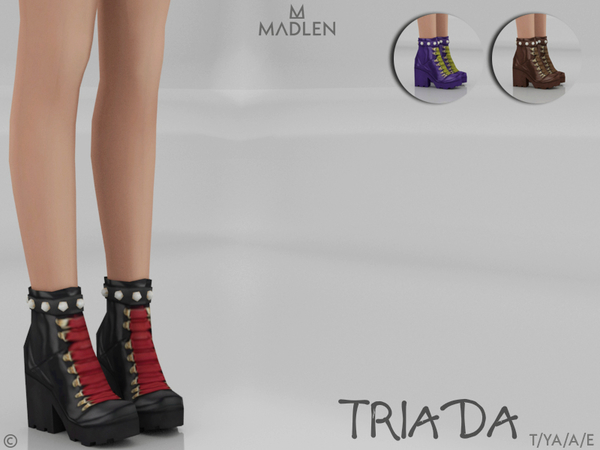 Sims 4 Madlen Triada Shoes by MJ95 at TSR