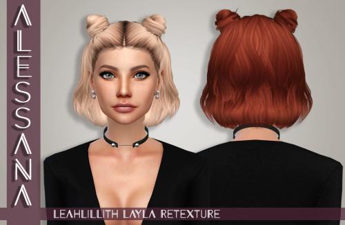 Sims 4 LeahLillith Layla Hair Retexture at Alessana Sims