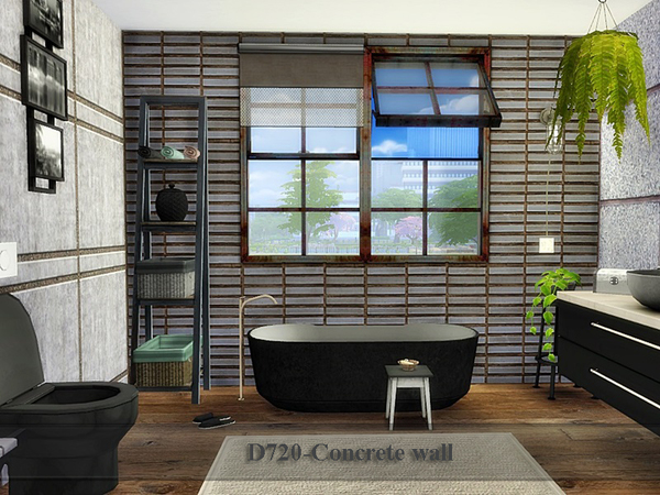 Concrete wall by Danuta720 at TSR image 748 Sims 4 Updates