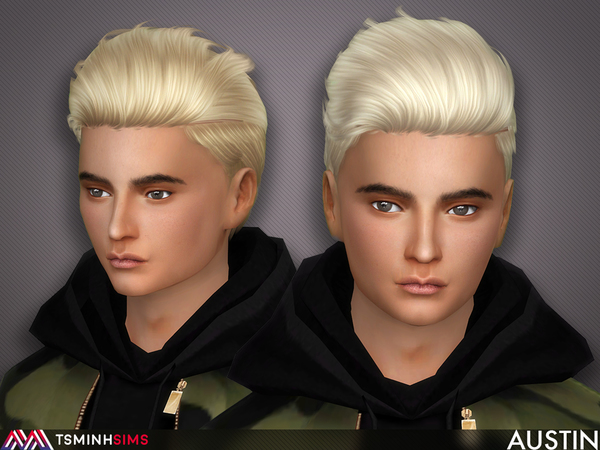 Austin Hair 54 by TsminhSims at TSR image 75 Sims 4 Updates