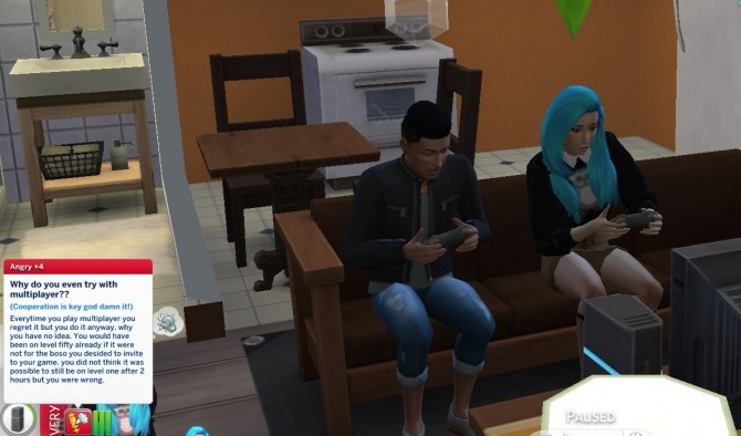 Sims 4 Extreme introvert trait in CAS by ChloeTheNinja at Mod The Sims