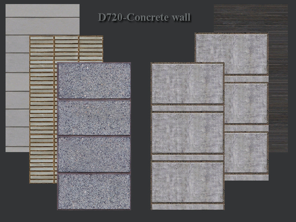Concrete wall by Danuta720 at TSR image 758 Sims 4 Updates