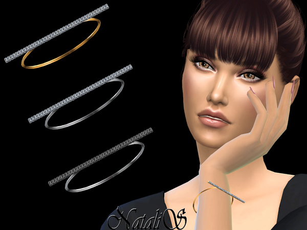 Bar Diamond Bracelet by NataliS at TSR image 7618 Sims 4 Updates