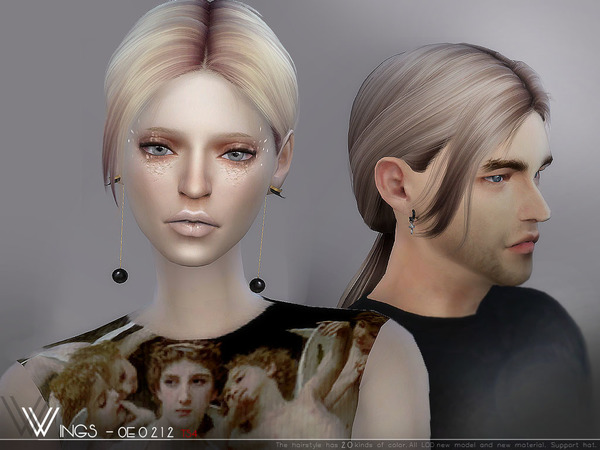 Hair OE0212 by wingssims at TSR image 768 Sims 4 Updates