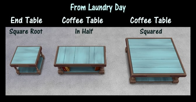End Table and Coffee Tables Recolours by Simmiller at Mod The Sims image 77 670x349 Sims 4 Updates