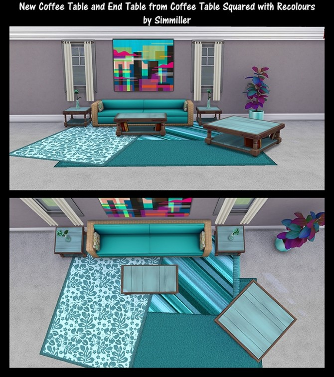 End Table and Coffee Tables Recolours by Simmiller at Mod The Sims image 78 670x756 Sims 4 Updates