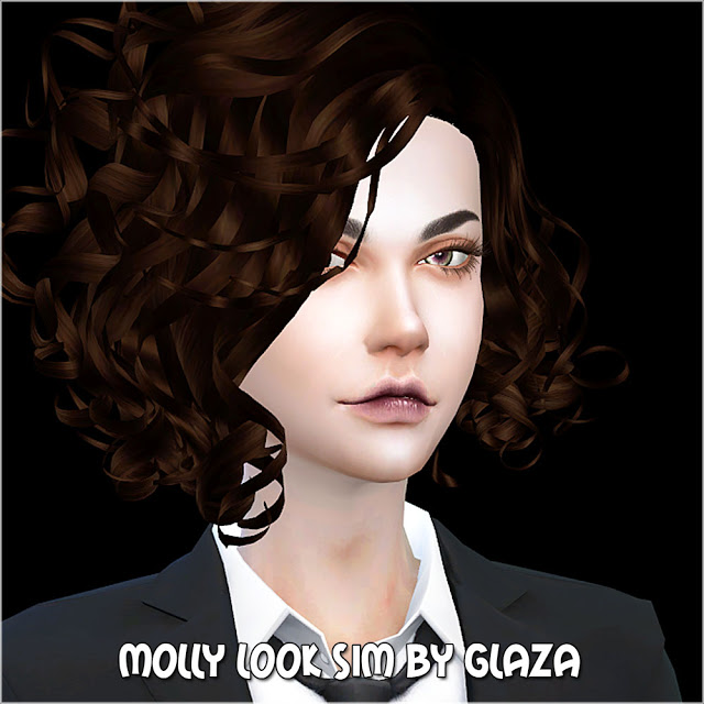 Sims 4 MOLLY LOOK SIM at All by Glaza