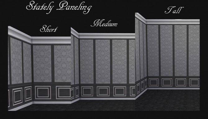 Stately Paneling 32 Colours by Simmiller at Mod The Sims image 788 670x383 Sims 4 Updates