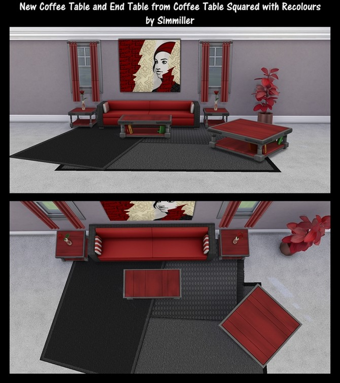 End Table and Coffee Tables Recolours by Simmiller at Mod The Sims image 79 670x756 Sims 4 Updates