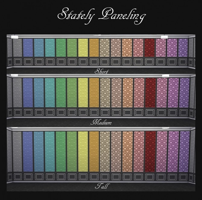 Stately Paneling 32 Colours by Simmiller at Mod The Sims image 798 670x663 Sims 4 Updates