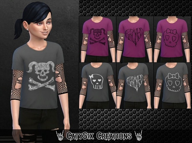 8 T shirts For Girls V1 at CatySix image 799 670x502 Sims 4 Updates