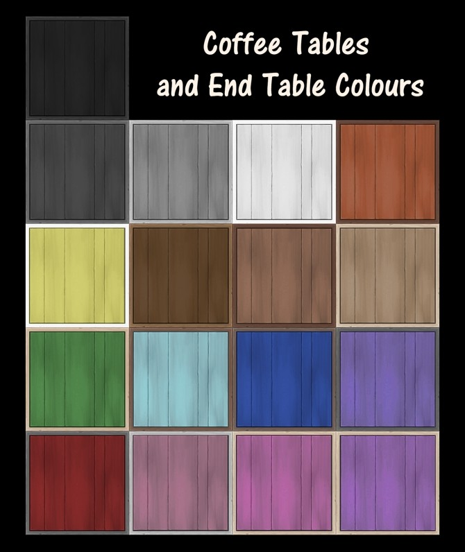 End Table and Coffee Tables Recolours by Simmiller at Mod The Sims image 80 670x796 Sims 4 Updates