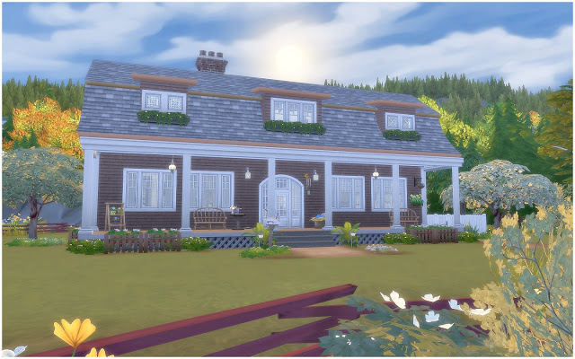 House 34 Gambrel Cottage at Via Sims image 8010 Sims 4 Updates