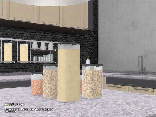 Sims 4 Lafeyette Kitchen Accessories by ArtVitalex at TSR