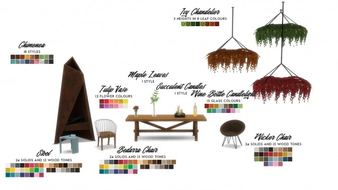 Oasis Chic Dining Outdoor Set at Simsational Designs image 802 670x377 Sims 4 Updates