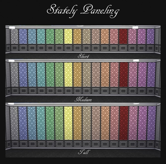 Stately Paneling 32 Colours by Simmiller at Mod The Sims image 808 670x663 Sims 4 Updates