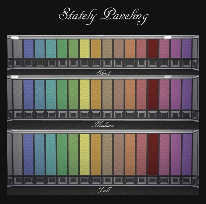 Stately Paneling 32 Colours by Simmiller at Mod The Sims image 8112 670x663 Sims 4 Updates