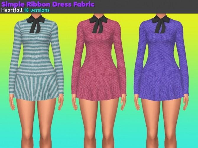 Sims 4 Simple ribbon dress fabric at Heartfall
