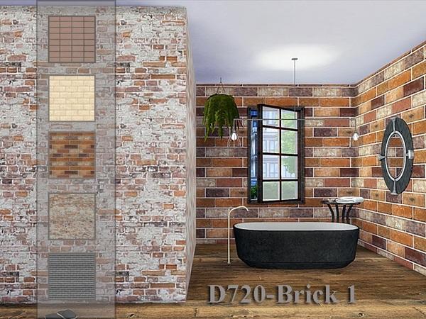 Sims 4 Brick 1 walls by Danuta720 at TSR