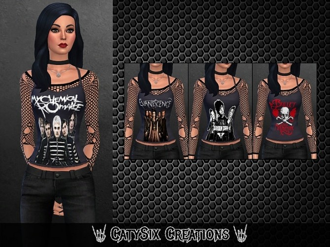 4 Tank Tops / Bands V1 at CatySix image 824 670x502 Sims 4 Updates