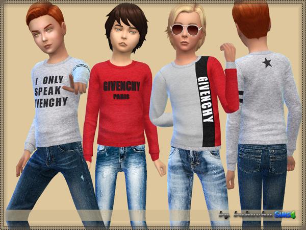 Sims 4 Sweater BOY by bukovka at TSR