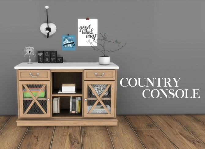 Sims 4 Country Console at Leo Sims