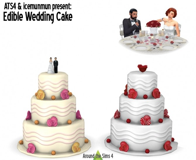 Edible Wedding Cake At Around The Sims 4 187 Sims 4 Updates