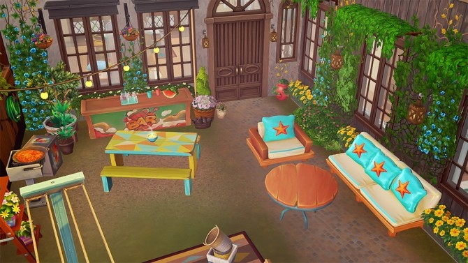 Colorful outdoor set conversion at Josie Simblr image 8414 670x377 Sims 4 Updates