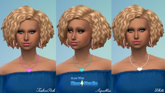 Sims 4 CharmHeart Necklace 6 Colours by wendy35pearly at Mod The Sims