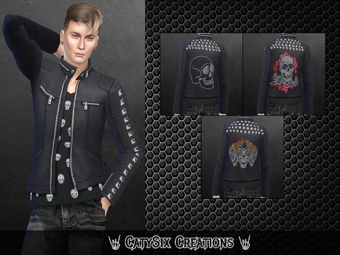 Rocker Jacket Male Version 1 at CatySix image 849 670x502 Sims 4 Updates