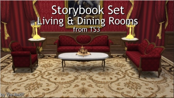 Storybook Set Living & Dining Rooms from TS3 by TheJim07 at Mod The Sims image 8617 670x377 Sims 4 Updates