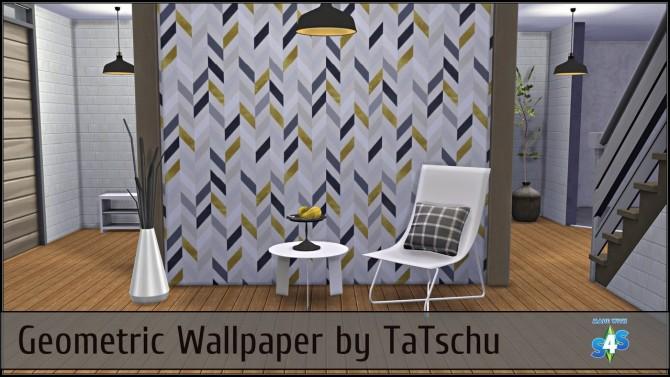 Sims 4 Geometric wallpaper at TaTschu`s Sims4 CC