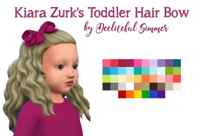 Sims 4 Kiara Zurk's toddler hair bow recolors at Deeliteful Simmer