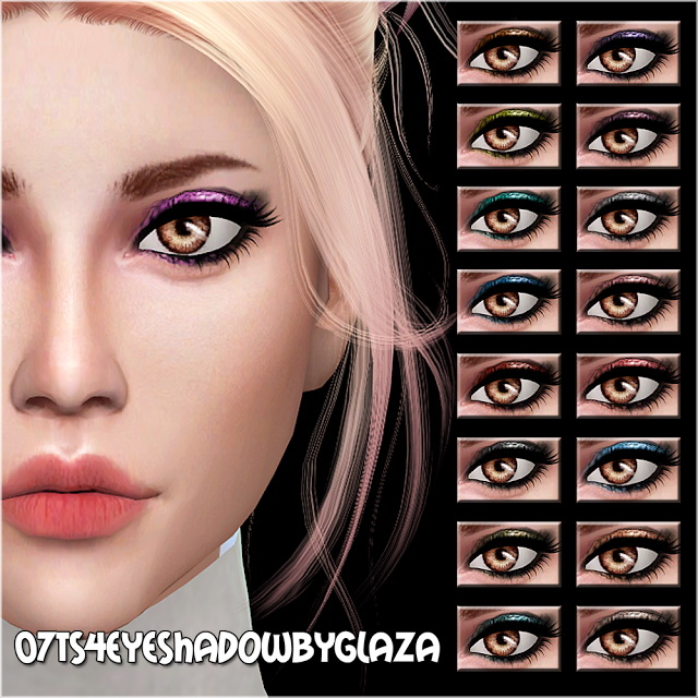 Sims 4 Eyeshadow #07 at All by Glaza